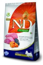 Корм для собак N&D мини эдалт беззерновой ягненок с тыквой и черникой